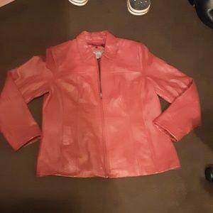 Genuine lined leather jacket